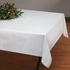 """White Linen-Like 50"""" x 108"""" Tablecloths are sold in quantities of 1 / pkg, 24 pkgs / case"""