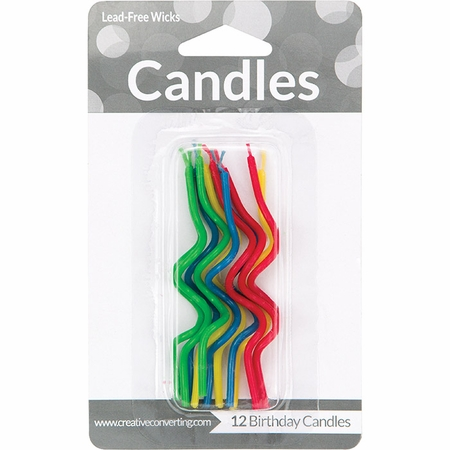 Assorted Curly Candles 72 ct