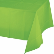 Touch of Color Fresh Lime Plastic Tablecloths 12 ct in quantities of 1 / pkg, 12 pkgs / case