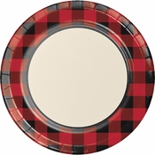 Buffalo Plaid Dinner Plates 96 ct