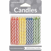 Assorted Primary Color Candles 288 ct