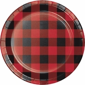 Buffalo Plaid Dessert Plates 96 ct