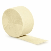 Touch of Color Ivory Crepe Streamer in quantities of 1 / pkg, 12 pkgs / case