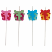 Present Shaped Pick Candles 48 ct