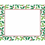 Holly Placemats 144 ct