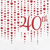 Ruby 40th Anniversary Luncheon Napkins 192 ct