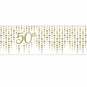 Gold 50th Anniversary Banners 6 ct