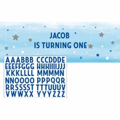 One Little Star Boy Party Banners 6 ct