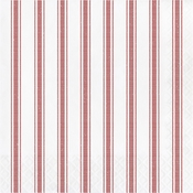 Red Ticking Stripe Luncheon Napkins 192 ct