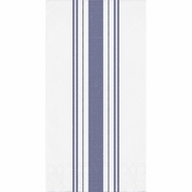 Navy Ticking Stripe Dinner Napkins 192 ct