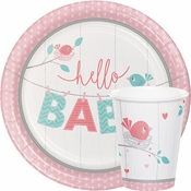 Hello Baby Girl Baby Shower Supplies