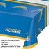 Blue, white and gold Los Angeles Chargers Tablecloths sold in quantities of 1 / pkg, 12 pkgs / case