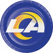 Los Angeles Rams Dinner Plates 96 ct