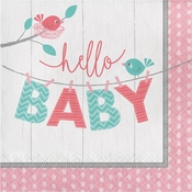 Hello Baby Girl Luncheon Napkins 192 ct