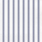 Navy Ticking Stripe Luncheon Napkins 192 ct