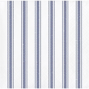 Navy Ticking Stripe Beverage Napkins 192 ct