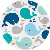 Blue Baby Whale Dinner Plates 96 ct