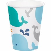 Blue Baby Whale Cups 96 ct