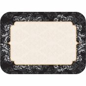 """Black, silver and gold Elegance 14"""" x 18"""" Traymats sold in quantities of 1000 / pkg, 1 pkg / case."""