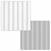 Gray Ticking Stripe Beverage Napkins 192 ct