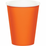 Touch of Color Sunkissed Orange 9 oz Hot & Cold Cups in quantities of 24 / pkg, 10 pkgs / case