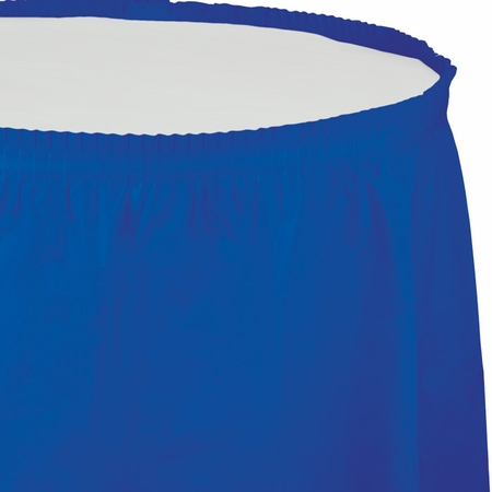 Cobalt Blue Plastic Tableskirt
