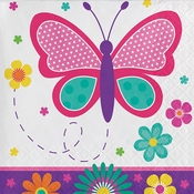 Butterfly Garden Beverage Napkins 192 ct