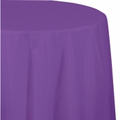Amethyst Purple Octy-Round Plastic Tablecloths 12 ct