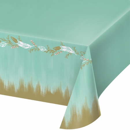 Mint to Be Plastic Tablecloths 6 ct