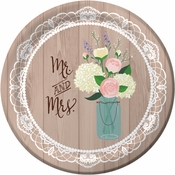 Rustic Wedding Plates 96 ct