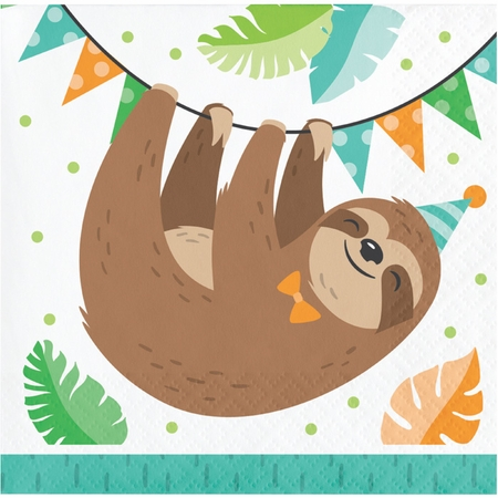 Sloth Party Beverage Napkins 192 ct