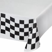 Black and White Check Paper Tablecloths 12 ct