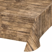 Wood Grain Plastic Tablecloths 6 ct