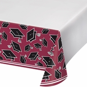 Graduation School Spirit Burgundy Tablecloths
