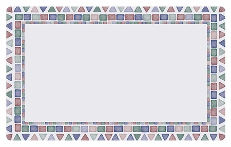 """Multicolored Tile Mosaic 12"""" x 20"""" Traymat sold in quantities of 1000 per case"""
