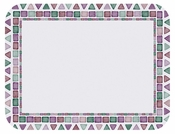 """Jewel toned on white background Tile Mosaic 14"""" x 18"""" Traymat is sold in quantities of 1,000 / pkg, 1 pkg / case"""
