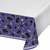 Graduation School Spirit Purple Tablecloths