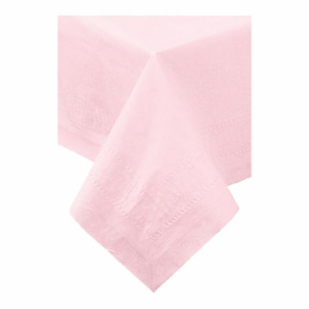"""Pink Cellutex 54"""" x 108"""" Paper Tablecloths is sold in quantities of 1 / pkg, 25 pkgs / case"""