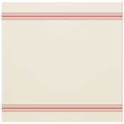 "15.5"" x 15.5"" FashnPoint White and Red Stripe Dinner Napkins Flat Pack 750 ct"