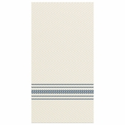 "8"" x 4"" FashnPoint Blue Ticking Stripe Dinner Napkins 800 ct"