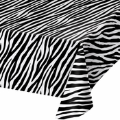 Zebra Print Plastic Tablecloths 6 ct
