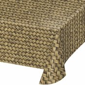 Basket Weave Plastic Tablecloths 6 ct