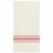 """8"""" x 4"""" FashnPoint White and Red Stripe Dinner Napkins 800 ct"""