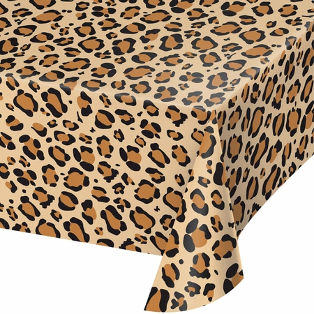 Leopard Print Plastic Tablecloths 6 ct