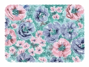 Pink purple and green Whispering Floral Scalloped Nonskid Traymat is sold in quantities of 1,000 / pkg, 1 pkg / case