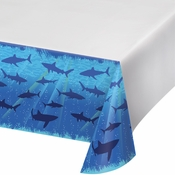 Blue Shark Splash Tablecloths sold in quantities of 1 / pkg, 6 pkgs / case