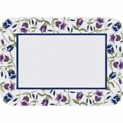 "Navy blue and purple Trumpet Border 15"" x 20"" Traymat in quantities of 1,000 / pkg, 1 pkg / case"
