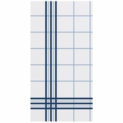 "8"" x 4"" FashnPoint Blue Plaid Dinner Napkins 800 ct"