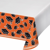 Graduation School Spirit Orange Tablecloths