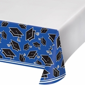 Graduation School Spirit Blue Tablecloths